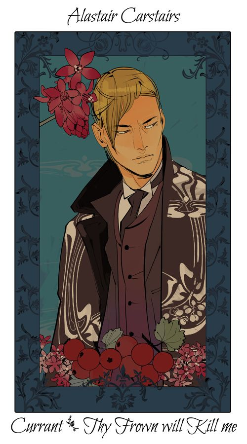 Alastair Carstairs with currants, The language of flowers (picked by C.Clare, art by C.Jean)