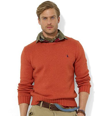Polo Ralph Lauren Sweater, Crew Neck Cotton Pullover , Sweaters , Men , Macys