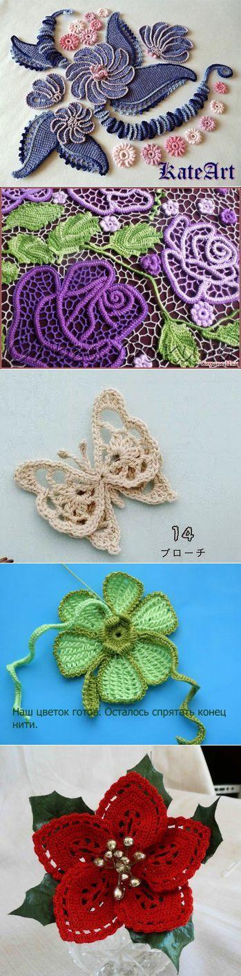 Vistoso Patrón Libre De Rosa Crochet Irlandés Patrón - Manta de ...