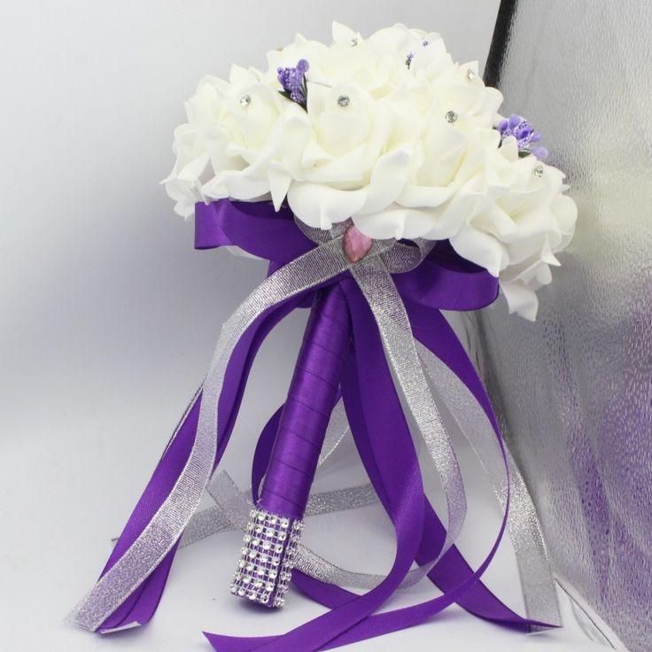 2015-РУЧНОЙ-РАБОТЫ-романтические-фиолетовые-Цветы-СВАДЕБНЫЕ-букеты-НЕВЕСТЫ-букет-Главная-свадьба-Украшения-Партия-роскошные-аксессуары.jpg (850×850)