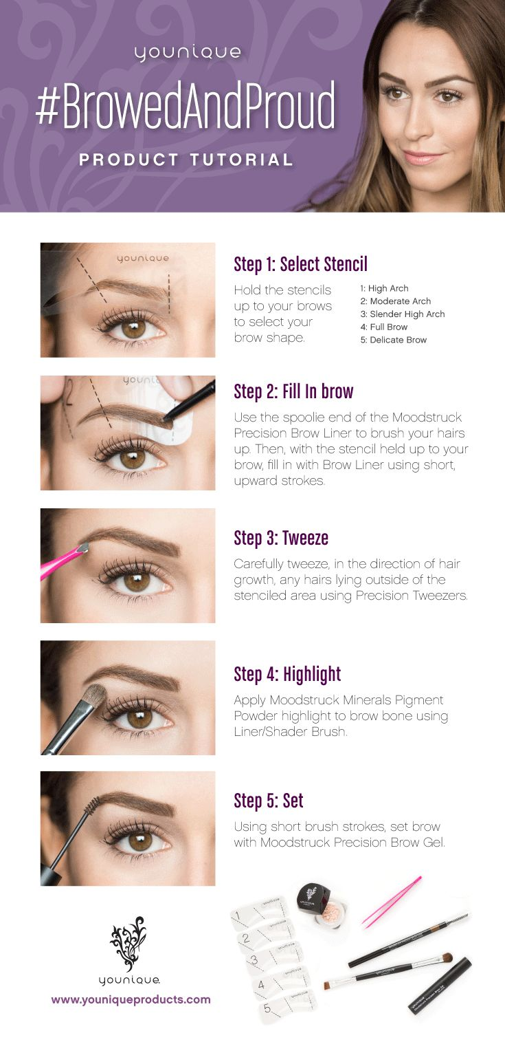 Perfectly manicured brows are just a few steps away with the Browed and Proud Kit!