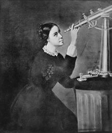 """Maria Mitchell (August 1, 1818 – June 28, 1889) was an American astronomer who, in 1847, by using a telescope, discovered a comet which as a result became known as """"Miss Mitchell's Comet"""". She won a gold medal prize for her discovery which was presented to her by King Frederick VII of Denmark."""