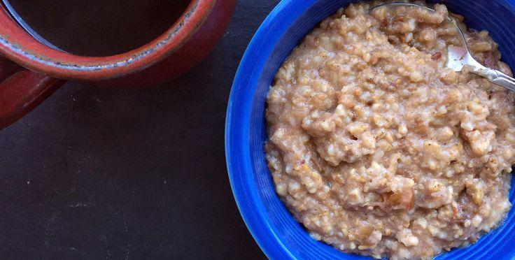Slow-Cooker Apple-Cinnamon Oatmeal  http://www.bicycling.com/food/recipes/slow-cooker-apple-cinnamon-oatmeal?cid=soc_BicyclingMag_TWITTER_Bicycling__