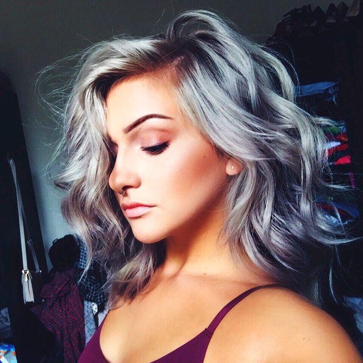 nice Модные серые волосы (50 фото) — Как подобрать оттенок под цвет глаз