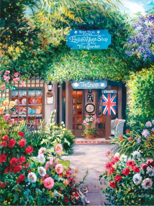 ROSE TREE COTTAGE, Susan Rios Fine Art Print ... dealtagger.com