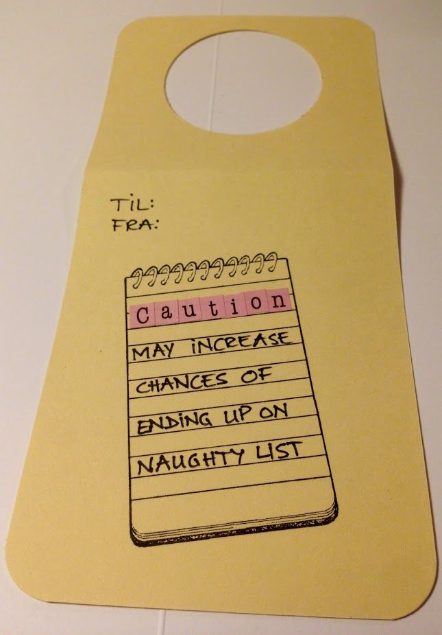 Tag Caution - May increase chances of ending up on naughty list