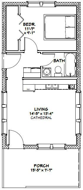 16x30 Tiny House 16x30h13 480 Sq Ft Excellent
