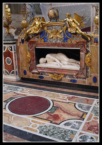 St. Cecilia's Tomb, Rome, Italy (Cecilia is the Patron Saint of Music, and one of my Beloved Patrons)