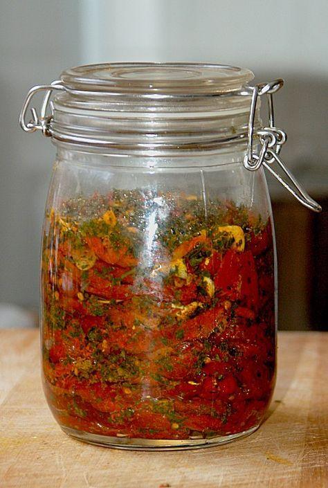 Getrocknete Tomaten, pikant eingelegt (Rezept mit Bild)   Chefkoch.de