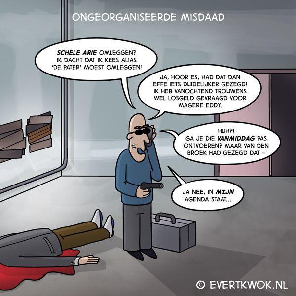 Misdaad. #cartoon