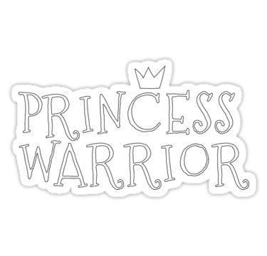 """Princess Warrior"" Stickers by Sarah Bennett | Redbubble"