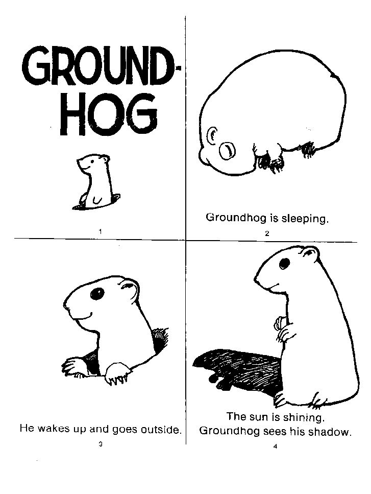 groundhog day coloring pages preschool - photo#15