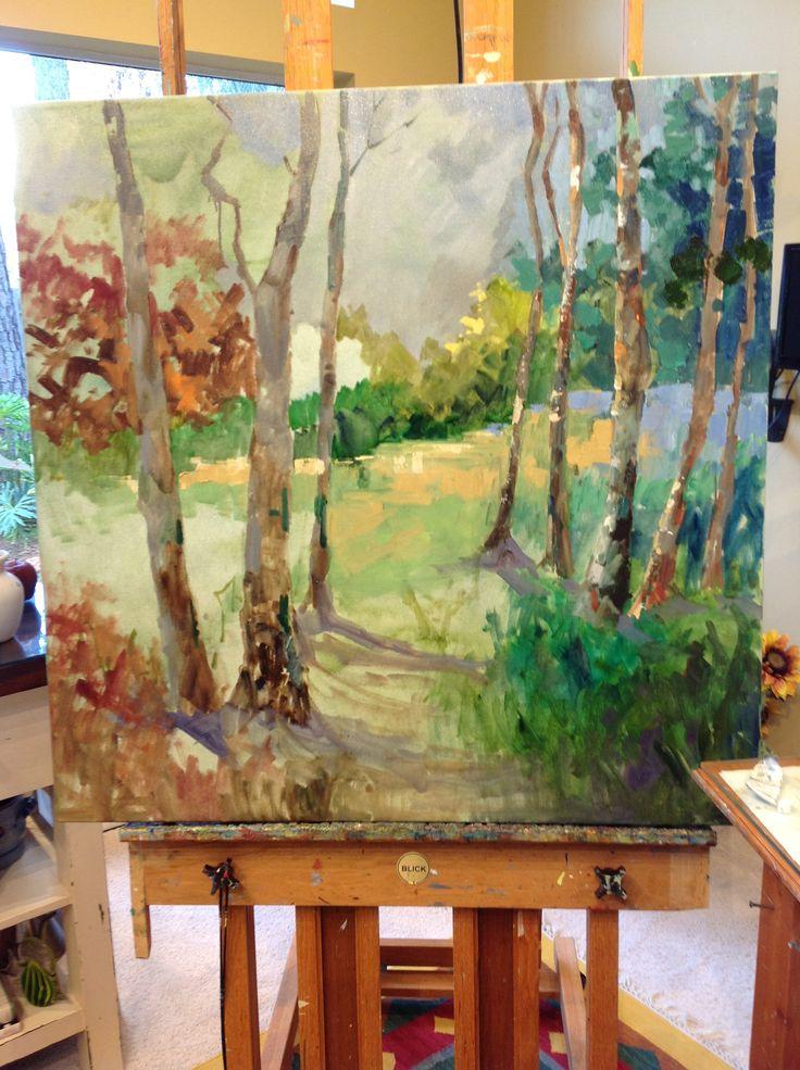 Spring Trees By Jo Ann Williams Walker In 2019 Artist