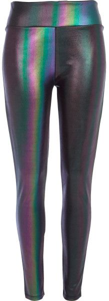 River Island Purple Holographic High Waisted Leggings in Multicolor (purple) - Lyst
