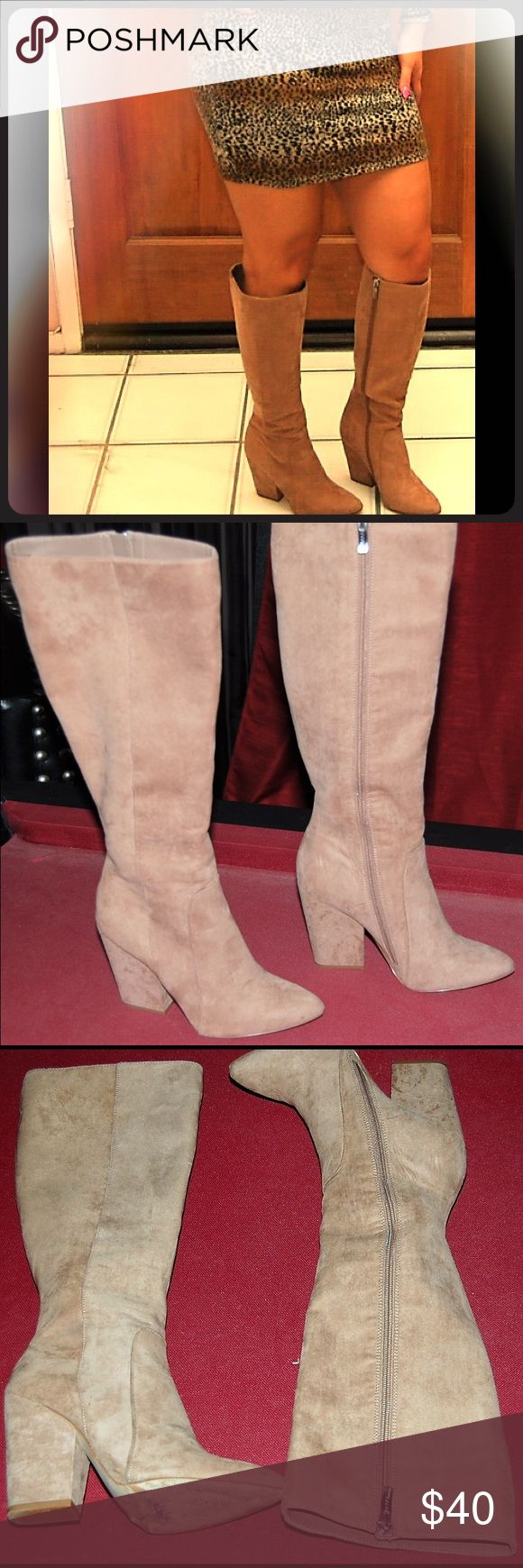 BCBGeneration Tall Boots BCBGeneration Tan Tall Boots. Perfect Heel Size, Comfortable For A Long Night Out! Used, But In Great Condition. BCBGeneration Shoes Heeled Boots