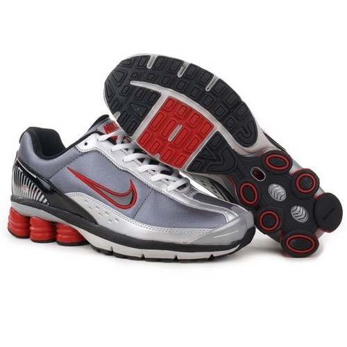 Top Seller Nike Shox R6 Cool Grey/Red-Black-Silver Men Shoes 1001 $53.99 http://forinstantpurchase.com/sneakers