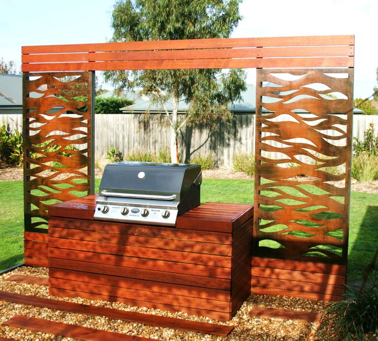 Create attractive BBQ areas using laser cut screening concepts