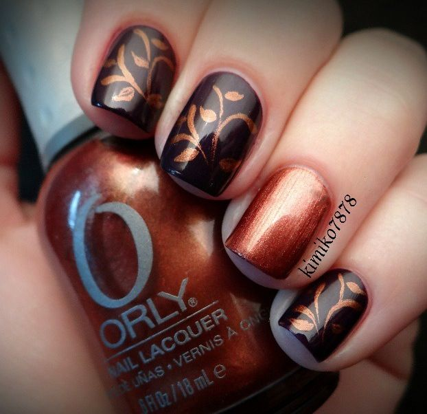Fall nails by kimoko7878 on Instagram