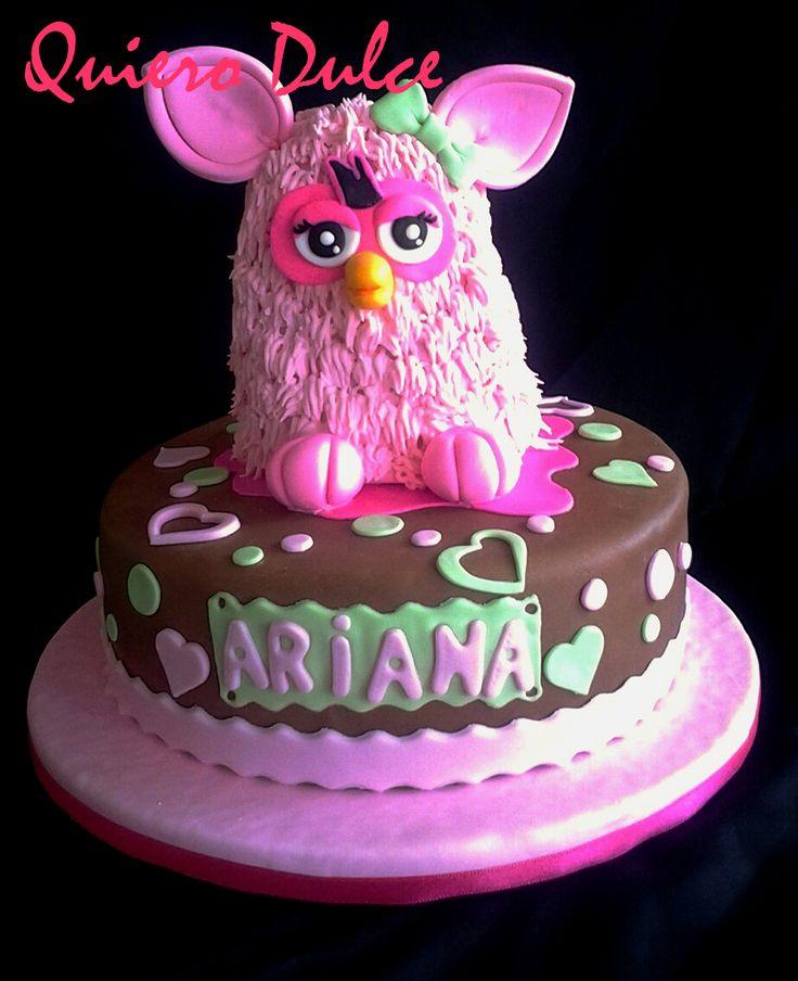 Torta Furby (tallada)