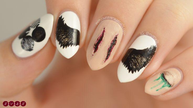 Bts Blood Sweat Amp Tears Inspired Nail Art N Y A N Designs Nails Bts Makeup Korean