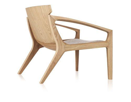 Contemporary armchair / wooden LINNA by Jader Almeida SOLLOS