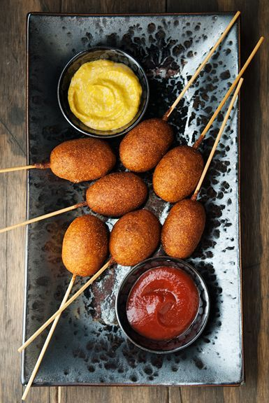 mini beer corn dogs recipe | use real butter