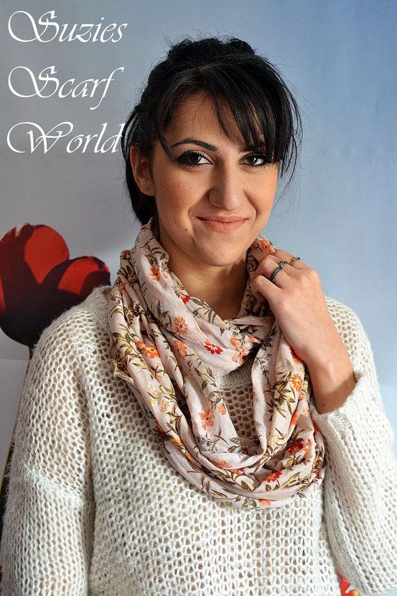 Long Scarf Pinkish Beige Scarf Double Wrap by SuziesScarfWorld, €18.00
