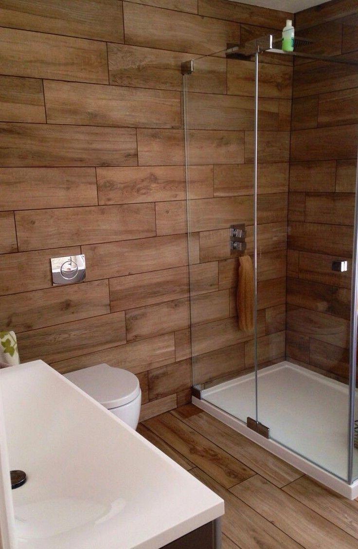 20 Fabulous Shower Bathroom Ideas That Steal Your Focus Wood Tile Shower Bathroom Interior Design Bathroom Interior