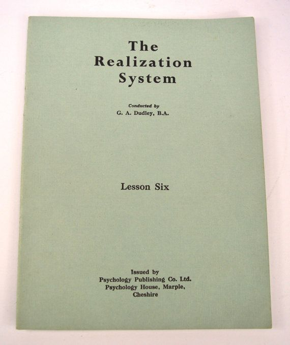 The Realization System G A Dudley Private Lessons in Practical Psychology Vintage Ephemera Child Psychology of Religion Psychology Education by FillyGumbo