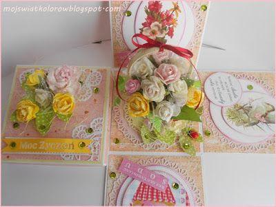 Mój świat kolorów...: Różany box...