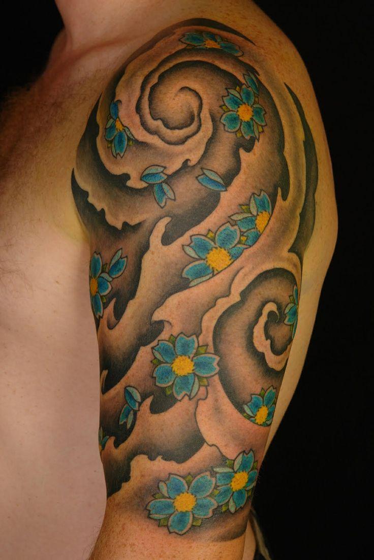 Japanese calf tattoos by durb - Japanese Tattoo