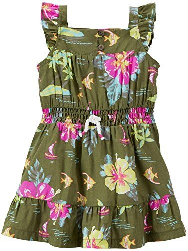 Carter's Baby Girls' Floral Dress (Baby) - Olive - 3 Months