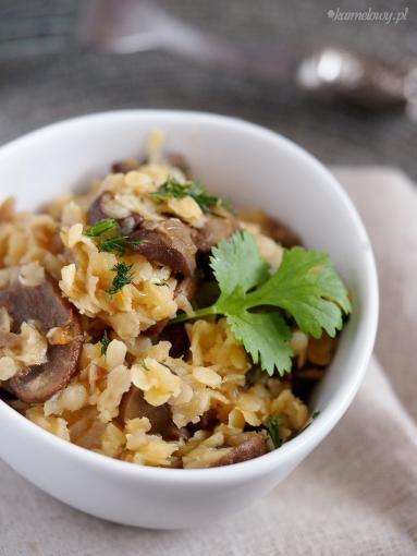 Zdjęcie: Szybka soczewica z pieczarkami / Easy lentils with mushrooms