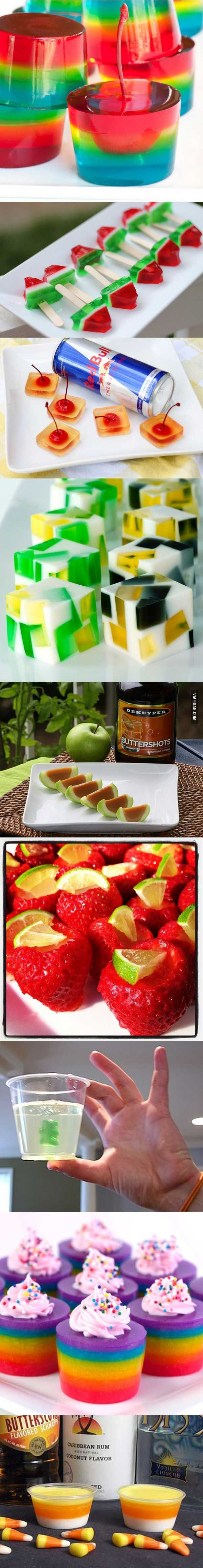 10 different ways to do jello shots, this is amazing!