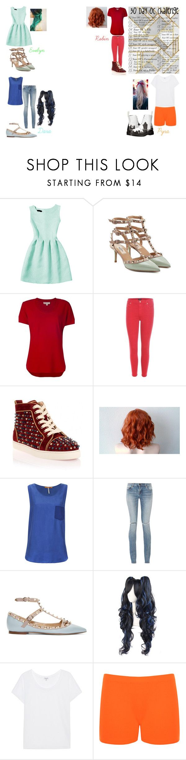 """""""30 Day OC Challenge - Your OC's Everyday Outfit"""" by steam-vinadetta ❤ liked on Polyvore featuring Valentino, MICHAEL Michael Kors, Citizens of Humanity, Christian Louboutin, BOSS Orange, Yves Saint Laurent, Splendid, WearAll and Dr. Martens"""