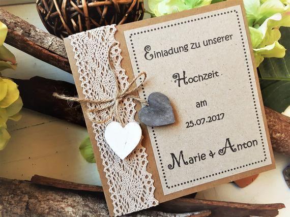 Einladung Hochzeit Vintage Hochzeitseinladung Boho