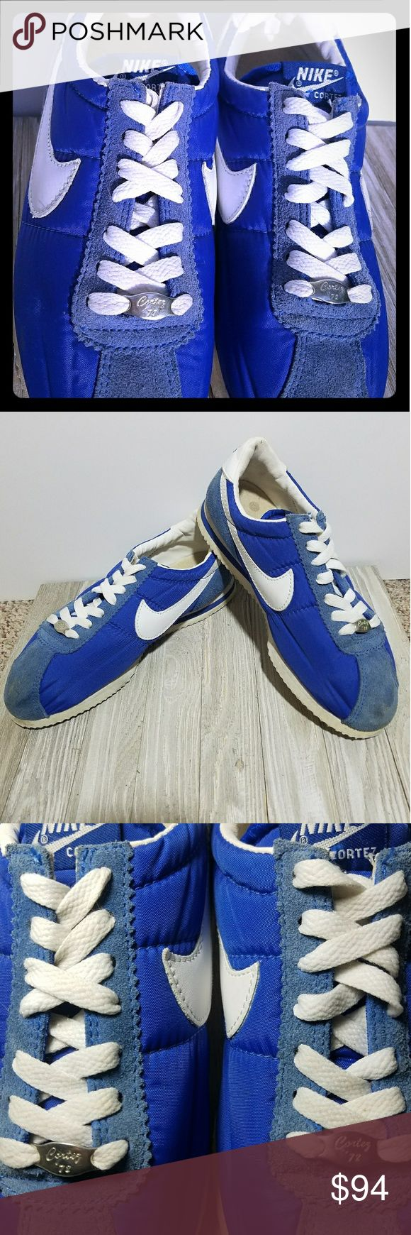 NIKE Cortez '72 Vintage Shoes NIKE Cortez '72 Rare Vintage shoes. Used, in good condition for all the years it's been out.  Amazing story about how these shoes came out, and why they were actually remade a few years ago. I can meet you in the town of Rome anytime, or in Wisconsin Rapids, or Nekoosa, or Stevens Point certain days.  Or I can ship them to you via PayPal, or Facebook Messenger payment system. Thank you! 😊 Nike Shoes Sneakers