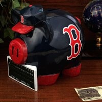 NEW! Here's a bit of Red Sox memorabilia that just makes cents.Large Resins, Sports Fanatic, Sox Memorabilia, Redsox, Buy Boston, Piggies Banks, Resins Thematic, Sox Bathroom, Boston Red Sox