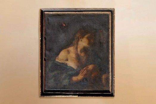 """Dipinto olio su tela raffigurante """"La Maddalena """". Prima tela, primo telaio , prima cornice. Misura con la cornice cm 70×85."""
