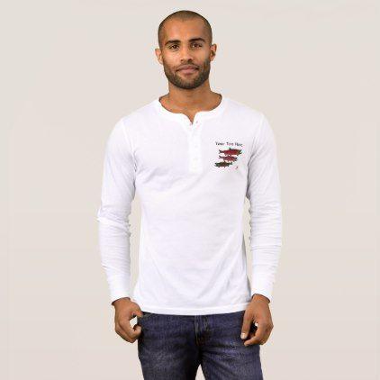 Spawning Salmon - Long Sleeve Henley T-Shirt  $37.95  by inkgoeswildalaska  - cyo customize personalize diy idea