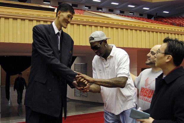 Rodman loses temper, ex-NBA players look sad in North Korea | ExNBA.com