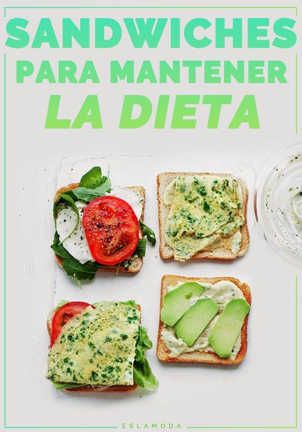 Sandwiches para mantener la dieta, una buena opción para el desayuno.