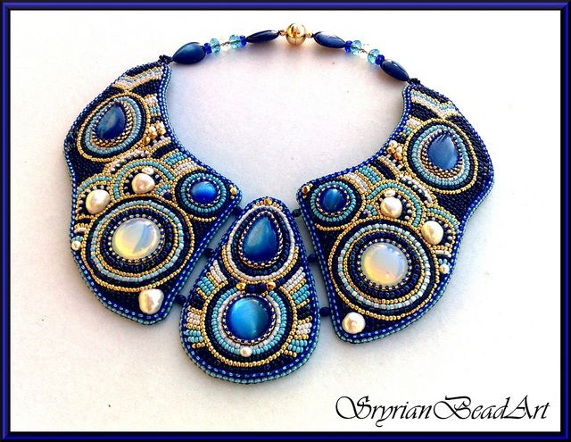 Mein blauer Traum  by Perlenzauberin, via Flickr  #beadwork #necklace