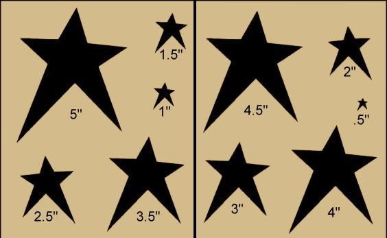 Primitive Stencils for Free | Details about Primitive Stencil~Prim Stars~Country Folk Art Paint