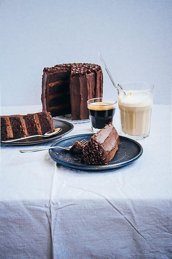 chocolate espresso birthday cake.