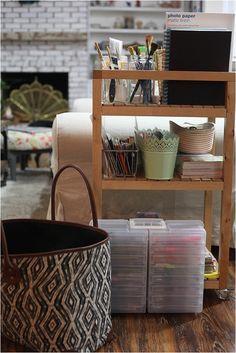 how to organize art supplies from www.runtoradiance.com