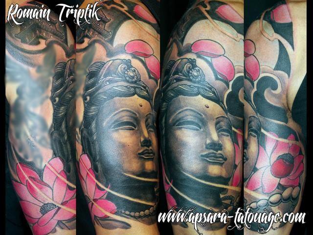 apsara tatouage nantes france bouddha lotus rose tattoos pinterest tattoos body art. Black Bedroom Furniture Sets. Home Design Ideas