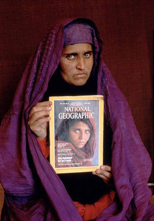 The Afghan Girl - OMG. She had the most beautifully haunting eyes. I wish her life was not fraught with hardships. I know that NG had a hard time getting permission to photograph her again....