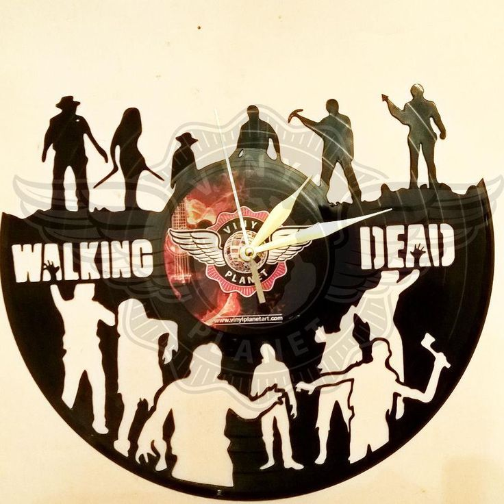 VINYL PLANET Wall Clock WALKING DEAD 3 Home Record Unique Decor upcycled 12''