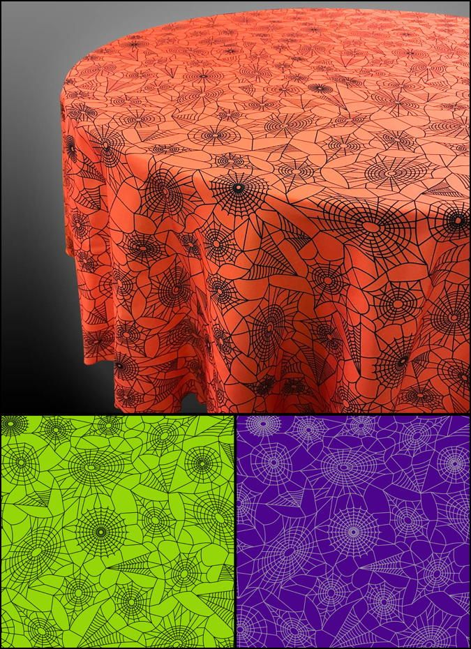 Superb Spiderweb Halloween Tablecloths U2014 A Bright Settings Exclusive.